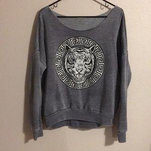 Karma Nation | Gray Tiger Sweatshirt